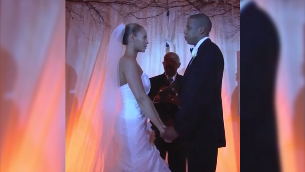 Jay Z's Instagram video of wedding to Bey