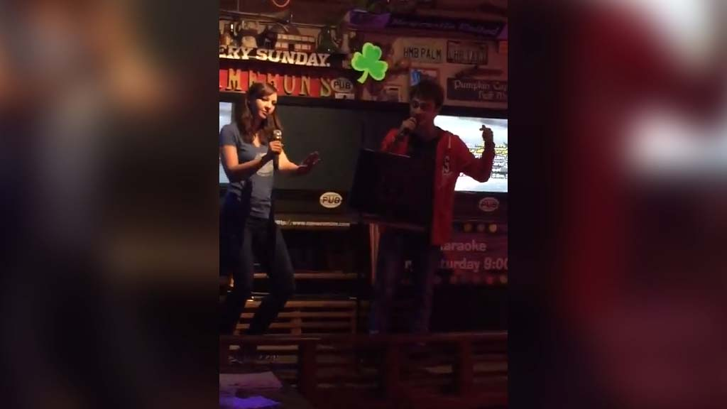 Daniel Radcliffe raps Eminem at Karaoke